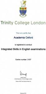 Certificado Trinity